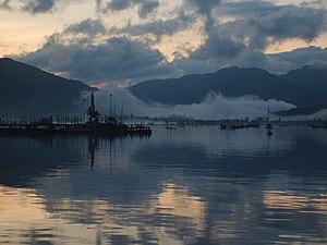 Sandbank, Argyll - Image: Dusky Holy Loch geograph.org.uk 1424420