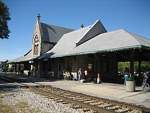 National Register of Historic Places listings in Livingston County, Illinois - Image: Dwight Il Dwight Chicago and Alton Railroad Depot 3