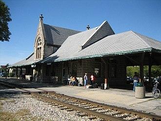 Dwight station - Image: Dwight Il Dwight Chicago and Alton Railroad Depot 3