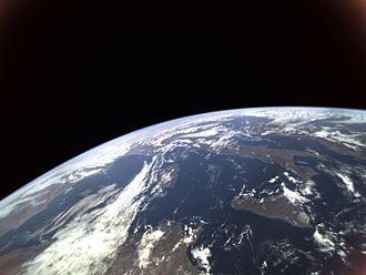 Hodoyoshi 3 - Earth taken by Hodoyoshi-3