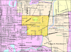 U.S. Census map of East Lake-Orient Park, Florida