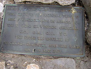 Ebbor Gorge - Plaque at Ebbor Gorge commemorating the donation of the land