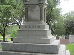 Edmund J. Davis - Base of the large Davis grave monument at Texas State Cemetery in Austin, Texas