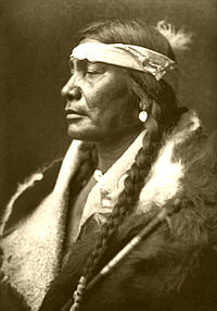 A picture of a Native American