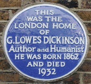 Goldsworthy Lowes Dickinson - Blue plaque