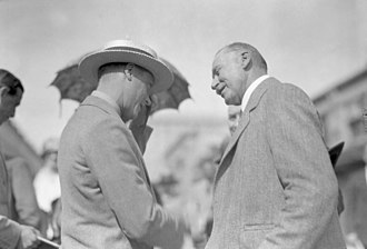 William Egbert - Egbert (right) meeting with Edward, Prince of Wales in 1927.
