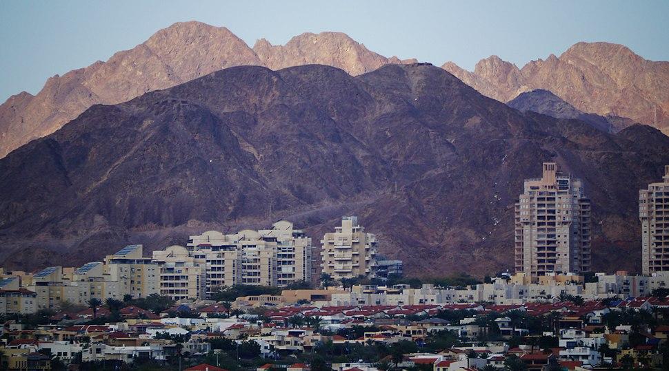 Eilat Blick von der Promenade in die Outskirts 09