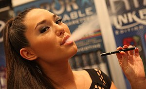 Safety of electronic cigarettes - Aerosol (vapor) exhaled by an e-cigarette user.