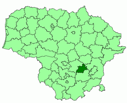 Location o Elektrėnai municipality