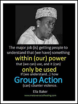 Ella Baker photo with quote