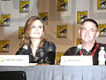 Emily Deschanel and Hart Hanson (3753554609).jpg