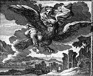 François Chauveau - The rape of Ganymede