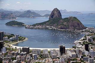 Sugarloaf Mountain Peak in Rio de Janeiro, Brazil