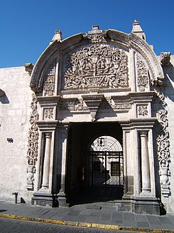Entrance of Casa Ricketts, in Arequipa, Peru.jpg