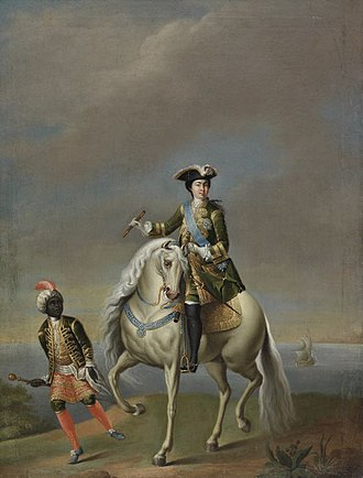 Catherine I of Russia - Catherine I riding