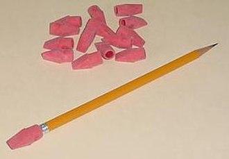 Eraser - Cap erasers.