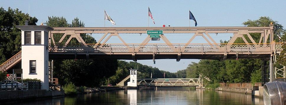 Erie Canal Lift Bridge Lockport July 2010
