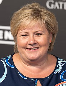 Erna Solberg (Red carpet) - Global Citizen Festival Hamburg 06.jpg