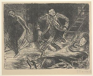 Ernst Barlach - Desperate Dance, illustration for the play Der Arme Vetter (The Poor Cousin), 1919, Dallas Museum of Art