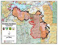 Donnells Fire Map.Erskine Fire Wikipedia