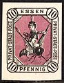 Essen German 10 Pf local stamp 1887 - Copy.jpg
