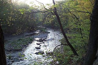 Euclid Creek river in the United States of America