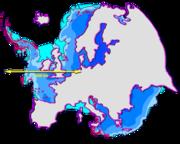 Size comparison Europe-Antarctica.