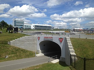 Canadian Tire Motorsport Park - Tunnel, Whites Corner – Turn 10 and Event Centre.