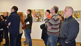 Exhibition of Spartak Arutunyan in Minsk 22.03.2015 06.JPG