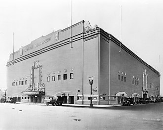 Grand Olympic Auditorium - Exterior view of the Grand Olympic Auditorium (ca. 1930).