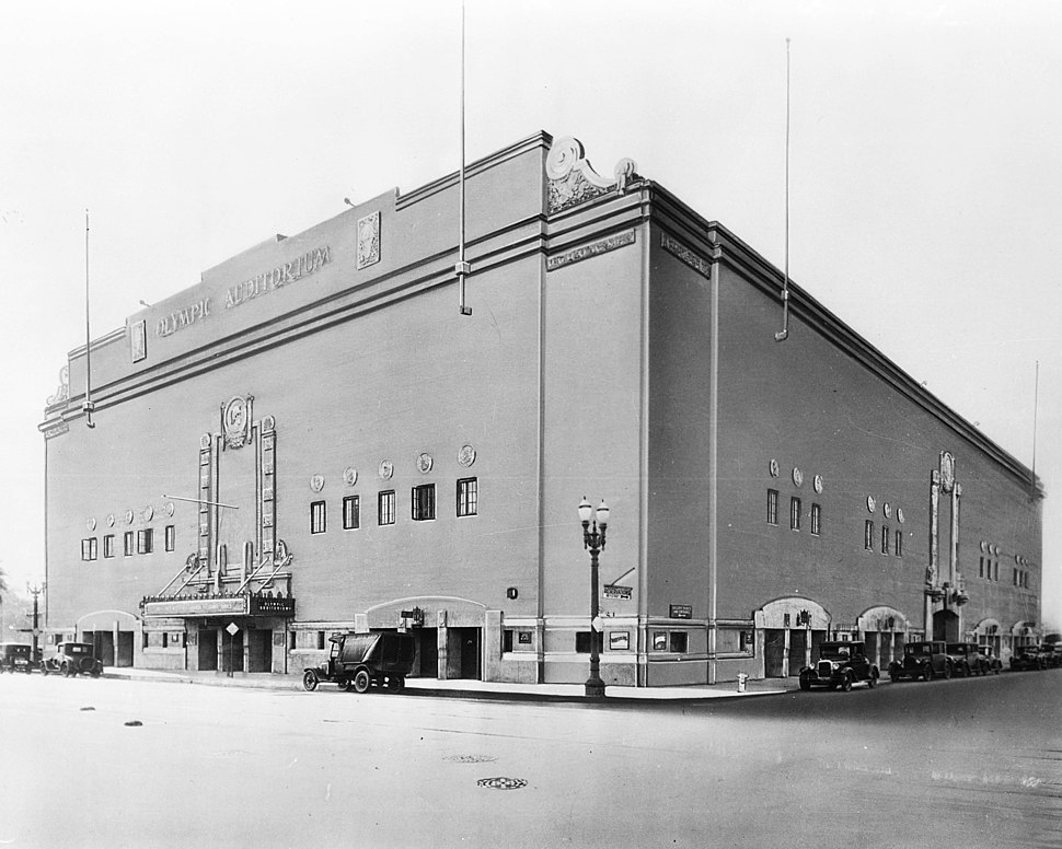 Exterior view of the Olympic Auditorium in Los Angeles, ca.1920-1929 (CHS-35279)