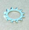 Toothed lock washer with external teeth