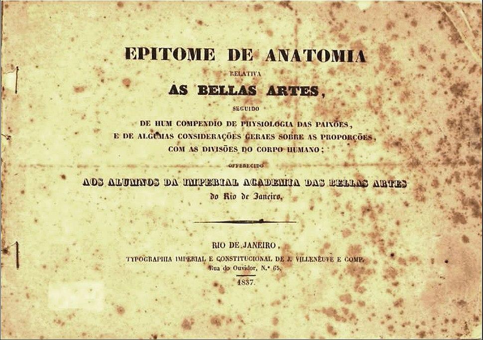 Félix-Émile Taunay Epitome de Anatomia Relativa as Bellas Artes