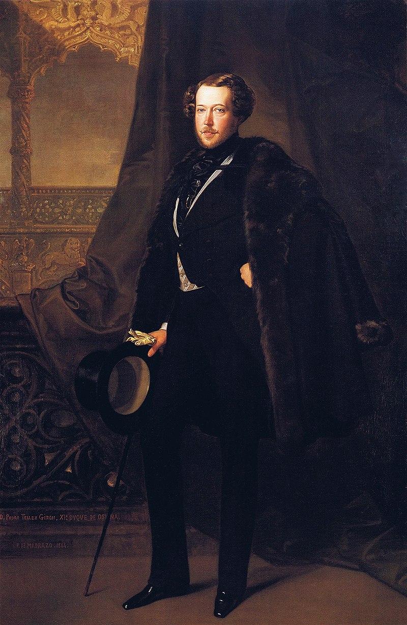 F. de Madrazo - 1844, Pedro Téllez Girón, XI Duque de Osuna (Colección Banco de España, 217 x 142 cm).jpg