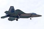 FF177 F-22A on final for R-W05R(1). (9057705186).jpg