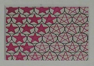 Tissu imprimé à motif d'« étoiles dans un cercle »