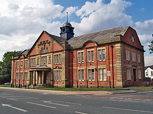 Listed buildings in Farnworth - Image: Farnworth Town Hall