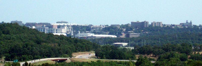 File:Fayetteville, Arkansas skyline featuring University of Arkansas.jpg