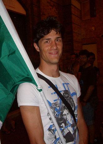 Federico Melchiorri - Image: Federico Melchiorri festeggia la vittoria dell'Italia sulla Germania