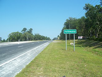 U.S. Route 27 in Florida - US 27 entering Fellowship from the south