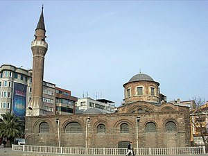 The southern view of the Mosque, formerly the Church of St. John the Baptist, as in 2007 and once