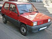 "The Fiat ""Panda,"" a 1980s city car"