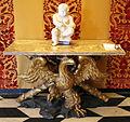 Filippo parodi, base per tavolo con aquila e croce di s. andrea, 1690 ca. 02 putto di taddeo e giuseppe carlone, dalla fontana del nettuno, 1599.JPG