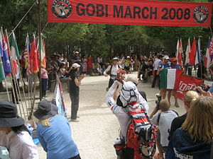 4 Deserts - The finish line of the 2008 Gobi March.
