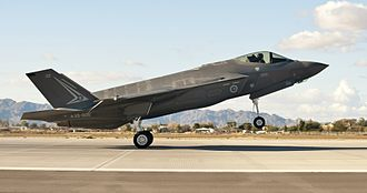 Royal Australian Air Force - An Australian F-35A arriving at Luke AFB to begin pilot training