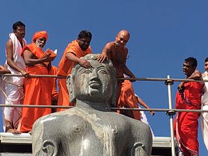Kanakagiri Jain Shri kshetra - Mahamastakabhisheka of 18-feet statue of Bahubali