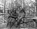 First World War, woods, tableau, soldier, men, uniform, railing, boots, gaiters Fortepan 5333.jpg