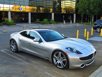 Fisker Automotive - Fisker Karma outside the Fisker headquarters in Anaheim, California