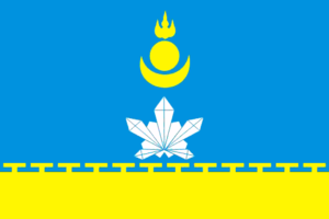 Zakamensky District - Image: Flag of Zakamensky rayon (Buryatia)