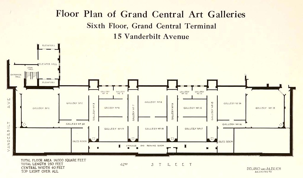 File Floor Plan Of Grand Central Art Galleries Circa 1923
